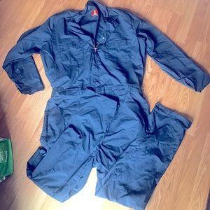 Unlined men's work coveralls redkap navy blue